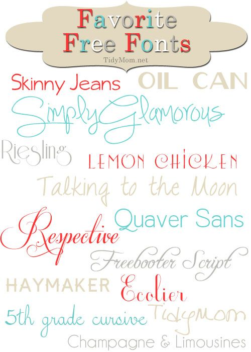 Favorite Free Fonts: Fonts Fonts, Crafts Fonts, Tidymom Favorite, Free Fonts, Favorite Free, Printables Fonts, Favorite Font, Fonts Printables, Fun Fonts