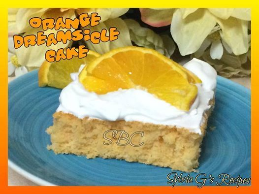 Photo: A Great Summer Dessert! So Dreamy and Delicious!  Orange Dreamsicle cake  Ingredients: 1 Box Orange Cake Mix 1 3oz Box of Orange Jello 1/3 cup canola oil 3 eggs 1/2 cup fresh orange juice 3/4 cup of water Zest of 1 Orange 1lb of powder sugar 1/2 cup of fresh orange juice 8oz of cream cheese 1 stick of unsalted butter 1 tsp of vanilla 1/4 tsp salt  Cake Directions: 1 Turn oven on to 350 2. Coat a 13x9 cake pan with cooking spray. 3. Mix together these ingredients: Cake Mix 1 3oz Box of…