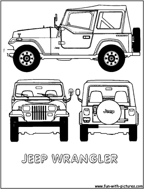cartoon jeep clip art