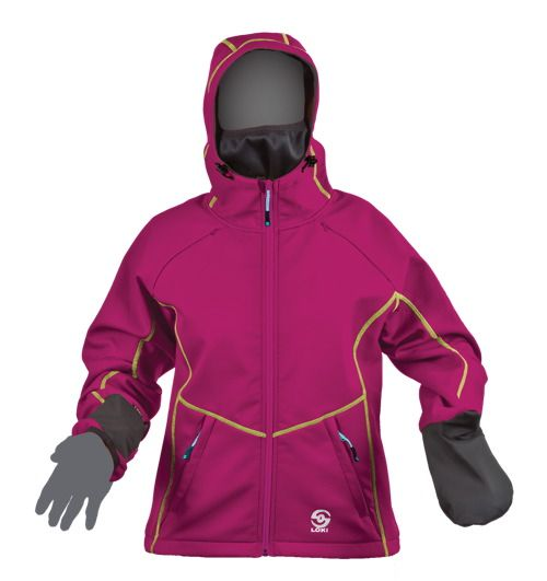 Loki Womens 8557 Mountain Hoodie with built in bacalava and mittens!!  Perfect for spring days!!