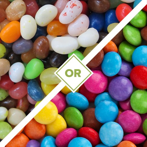 This or That: Jelly Beans or Chocolate? We asked a handful of patrons and it's a 50/50 split #Sugarrush #TrickorTreat