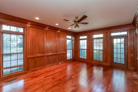 Paneled Walls Hardwood Floors And Family Rooms On Pinterest