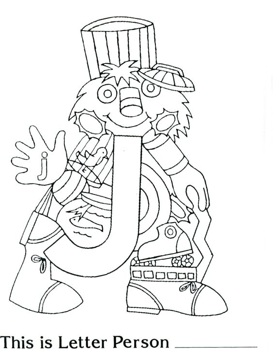 Brilliant Beginnings Preschool: Letter Person J Coloring Page ...