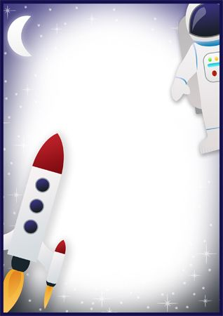 Here is some space-themed notepaper that could be used to make mats for station activities.