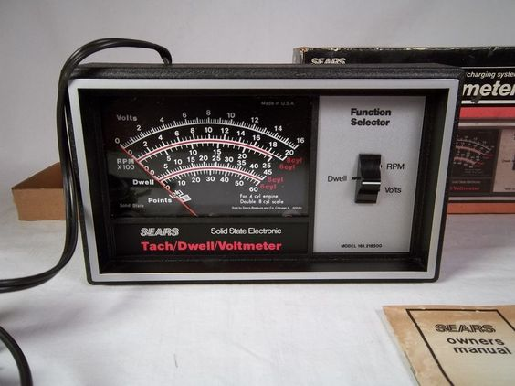 Sears Tach Dwell Voltmeter - 161.216500 - RPM Calibration Service - Made in USA #Sears