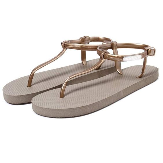 Best Gift New Fashion Women Girl Sandals Summer Shoes Simple Beach Shoes Flat Sandals Bea6623
