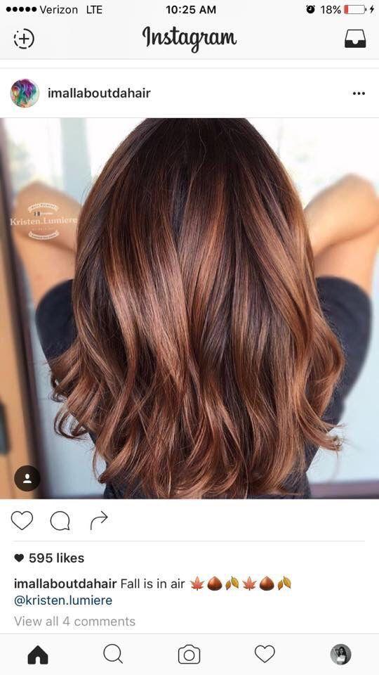 Chocolate Hair Color Coiffure Cheveux Mi Long Coupe De Cheveux Couleur Cheveux