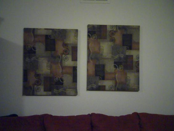 Fabric covered canvas wall decor :-)