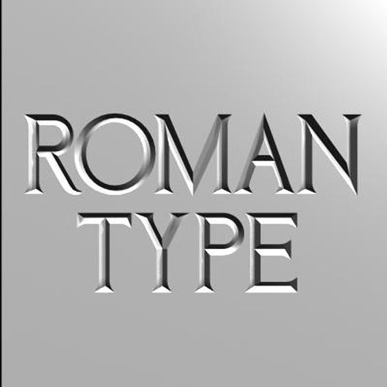 3d roman font letters - Roman Font Incised Type... by ...