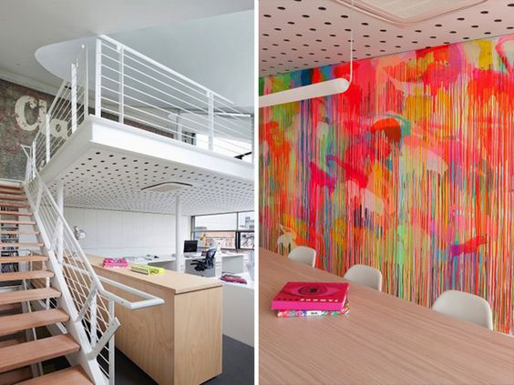 Creatively Applied Bold Conference Room Color