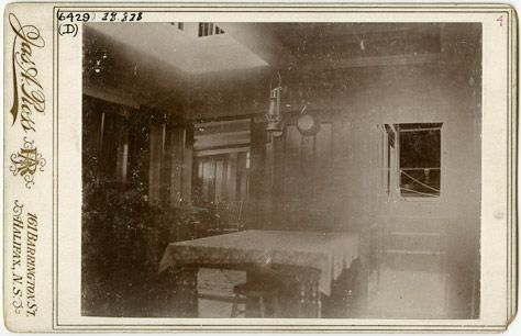 Nova Scotia Archives - Harry Piers: Museum Maker - Interior of main cabin