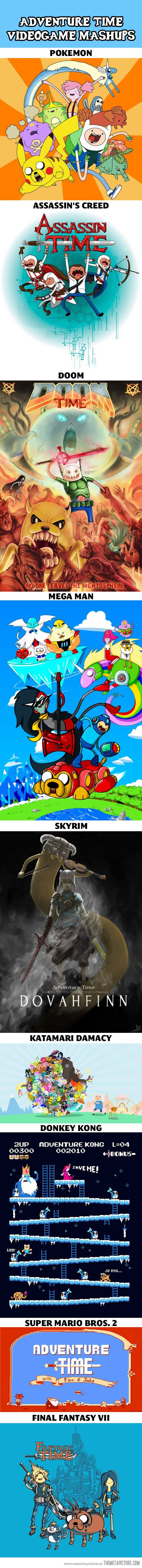 Adventure Time video game mashups. Help I love this.