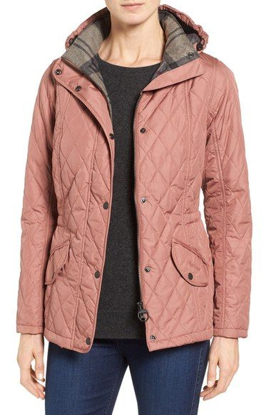 Barbour 'Millfire' Hooded Quilted Jacket available at #Nordstrom: