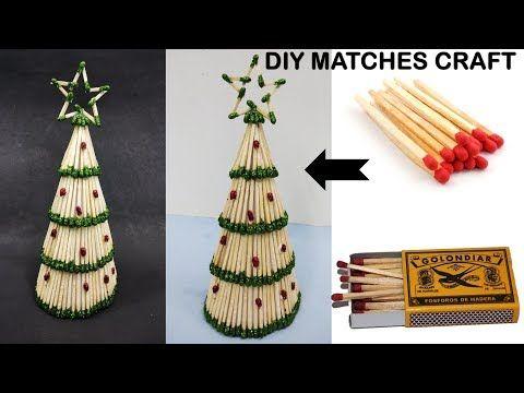 Diy Christmas Tree Making With Matches Christmas Decoration Home Decor Youtube Christmas Crafts Christmas Decorations Christmas Ornaments