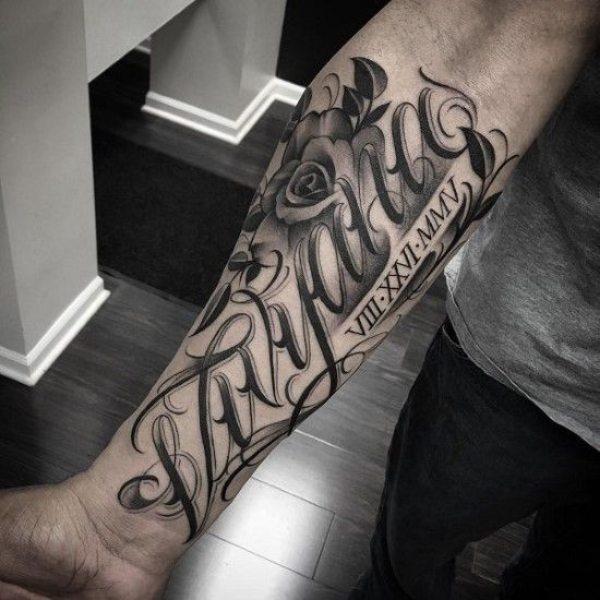 Intage Online Forearm Name Tattoos Tattoos Tattoo Font For Men