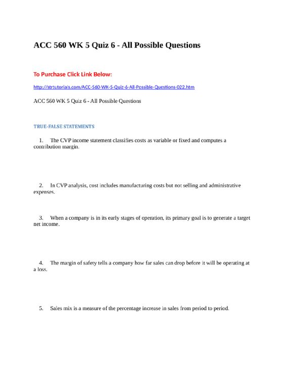 Acc  Wk  Quiz  All Possible Questions