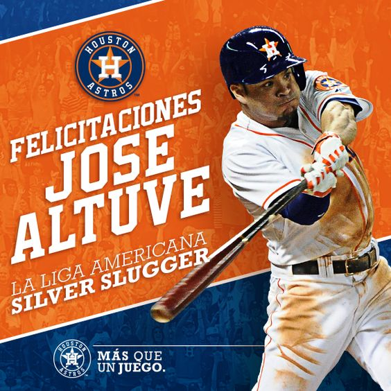 JoseAltuve  es el ganador del Premio Bate de Plata en la Liga Americana como mejor 2B ofensiva. ¡Felicidades!
