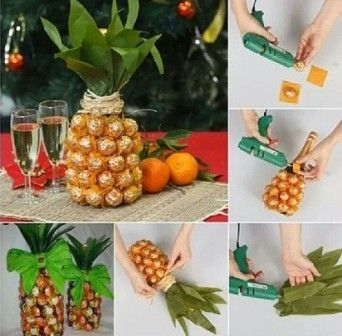 Decorar la botella de champagne ideas para navidad for Ideas para decorar botellas