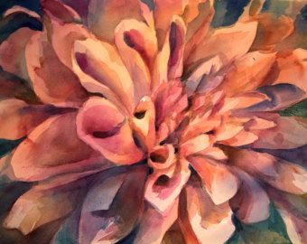Floral Layers - Floral Watercolor ORIGINAL painting by SriWatercolors - 22 x 30 in