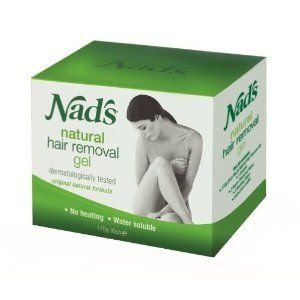 Nad's No-Heat Hair Removal Gel, 6 oz (170 g) - Safe to use. 100% Natural. Australia's number 1 selling hair removal product. Legs, underarms, bikini line, face, and more. Cloth strip, orange stick, spatula, instruction booklet. No heat. No muss. No f
