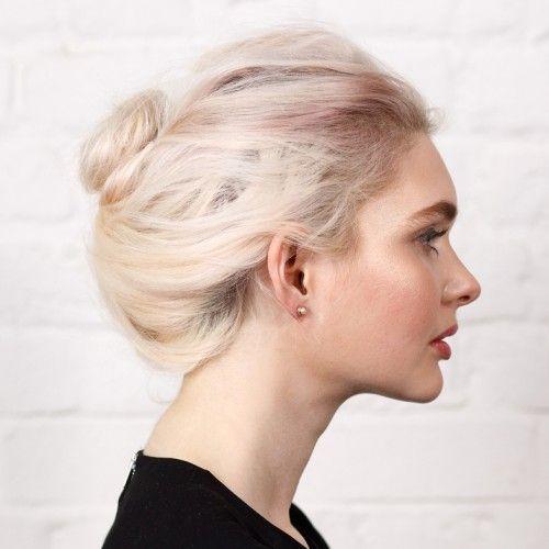 Simple Pearl Rose Gold Stud Earring