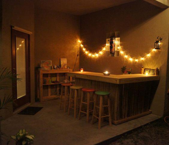 String Lights For Tiki Bar : Night, String of lights and Tiki bars on Pinterest