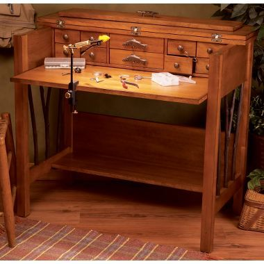 Cabela S Big Sky Carvers Willow Run Fly Tying Desk Log