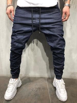 Baggy Drop Crotch Jogger Jeans 4184 Ropa Para Hombres Jovenes Ropa Cool Para Hombre Ropa De Moda Hombre