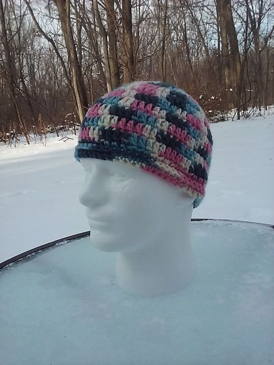 The Popular Original Crochet Winter Ponytail Messy Bun Hat Adult Handcrafted #CAPHAT #Beanie
