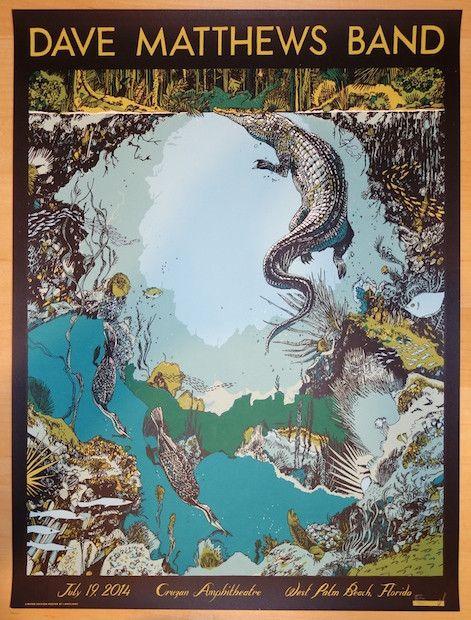 Dave Matthews Band West Palm Beach Poster