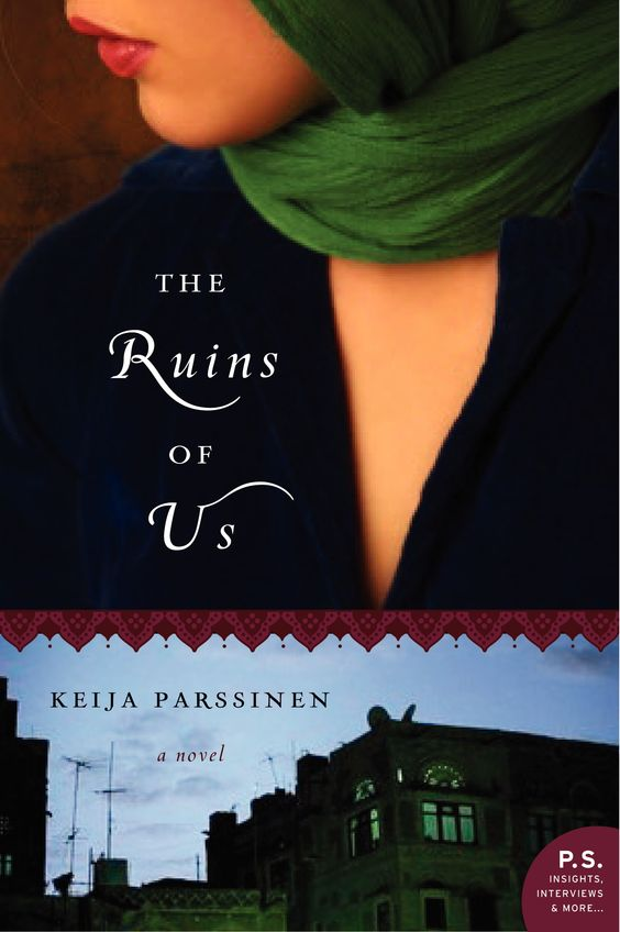 The Ruins of Us, by Keija Parssinen. I picked up this book because I was as intrigued by the author's bio as I was by the description of the story. I felt like she did a great job of capturing how being of two cultures can result in straddling them, never being a full part of either.
