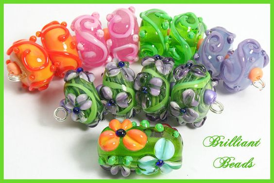 Reserved for SamA Suite of Pretty Spring Beads  by Gillianbeads, $39.50