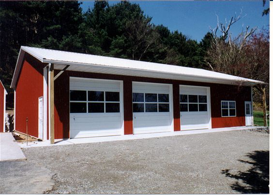 Cool garages garage carport plans and kits steel for Cool pole barns