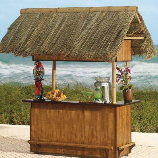 Tropical Tahiti Bar Thatched Hut Durable Bamboo Safari Thatch Tiki Hut Tiki Bar Outdoor Tiki Bar
