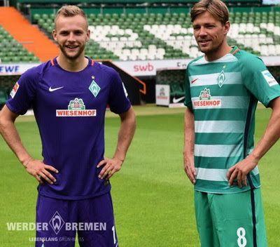 Le Nouveau Maillot de foot Werder Breme pour la saison 2016/2017 de Bundesliga. Fait par Nike,sont encore une fois parrainé par Wiesenhof.