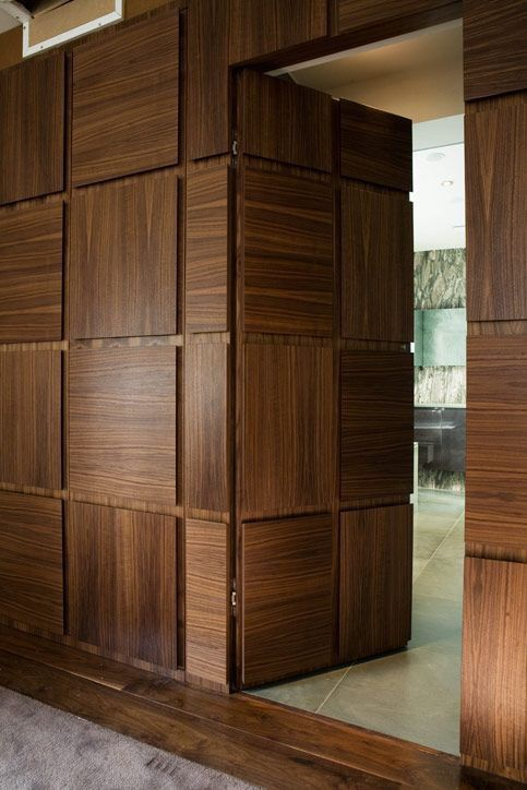 Wall Paneling In Reverse Raised Wooden
