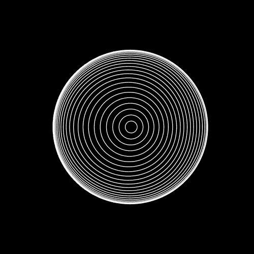 Des .gif noir et blancs hypnotiques #2 gif psychedelique hypnose animation 01 design
