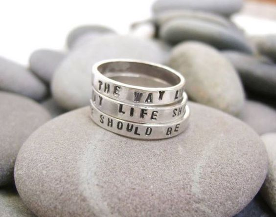 The Way Life Should Be Rings by Marrick. Made in Maine