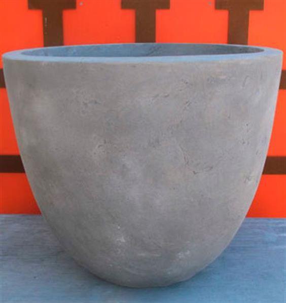 Martin Kellock Pots - Metro Light Authentic Grey Egg Pot D112cm