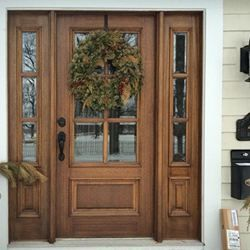 Dd6l 1 2 T Exterior Doors With Glass Mahogany Exterior Doors