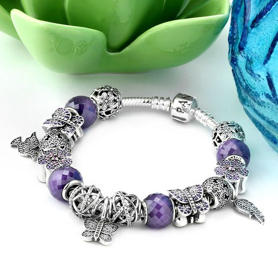 pandora butterfly garden charm bracelet pandora