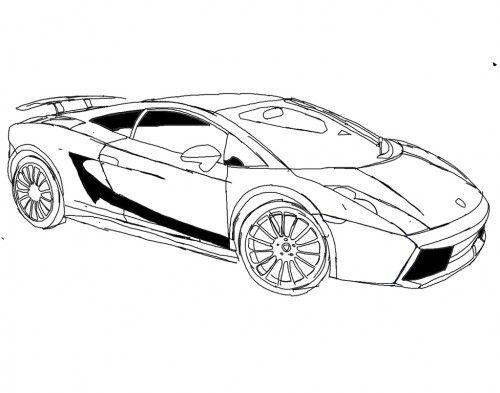 racing car lamborghini gallardo s70 4 coloring page