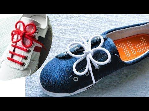 簡単にできます!四つ葉のクローバーのような形の靴ひもの結び方