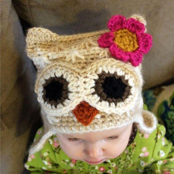 Crochet Owl Hat Pattern! #crochet, #yarn, #crafts, #fiber, #owl ...