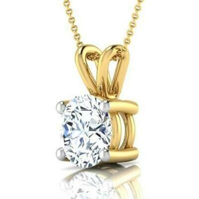 14K Solid Yellow Gold Cross Pendant 0.80TCW Brilliant Created Diamond Charm VVS1