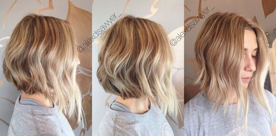 To this day this is one of my absolute favorite cut and color combo. Blonde bob with blunt ends. Cut & color by Alexandria