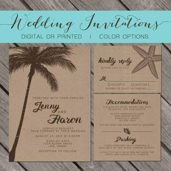 Ideas de invitaciones/ boda en la playa 10