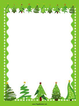 printable the top noel trees atelier page borders border design winter ...