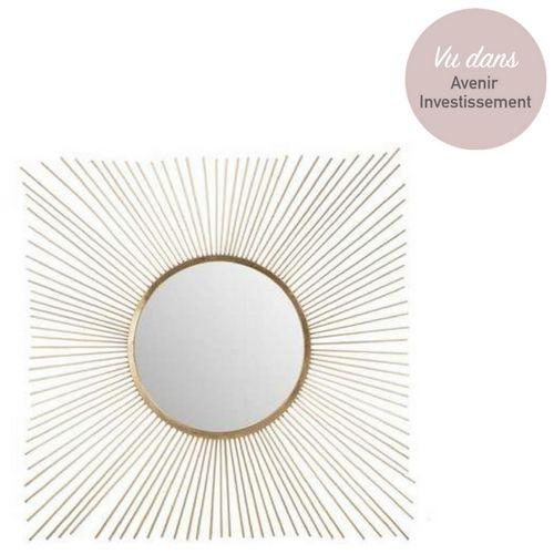 Miroir Rayons De Soleil En Metal Gold Miroir Miroir Deco Metal