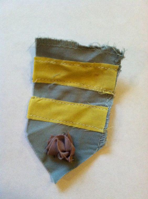 grey and yellow striped award. $5.00, via Etsy.